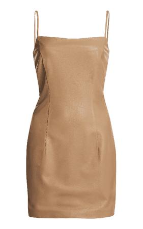Zeynep Arcay Leather Mini Dress In Neutral   ModeSens