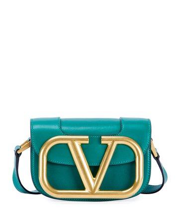 Valentino Garavani Supervee Small Leather Shoulder Bag | Neiman Marcus