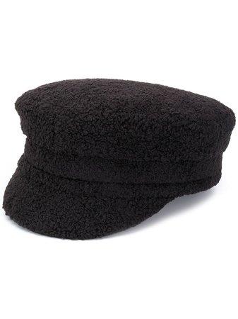 Ruslan Baginskiy faux-shearling Baker Boy Hat - Farfetch
