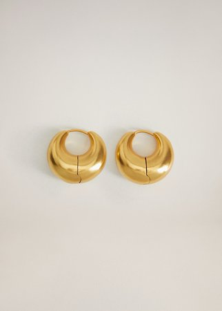 Thick hoop earrings - Women | Mango USA