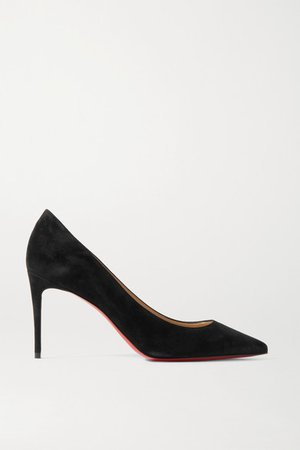 Kate 85 Suede Pumps - Black