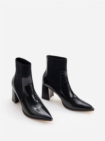 black reserved boots