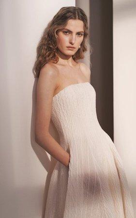 Fern Strapless Organza Dress By Ralph Lauren   Moda Operandi