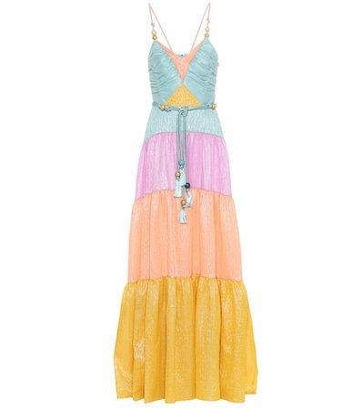 Liquid organza silk-blend dress