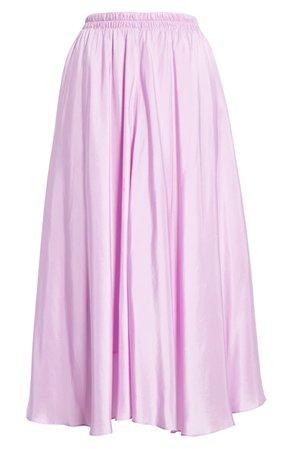 Vince Gathered Silk Midi Skirt | Nordstrom