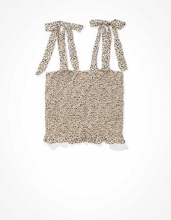 AE Tie-Strap Smocked Cami