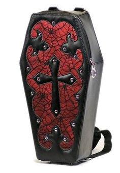 Dark Star Red Gothic Coffin Bag