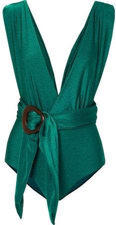 PatBO - Belted Swimsuit - Green