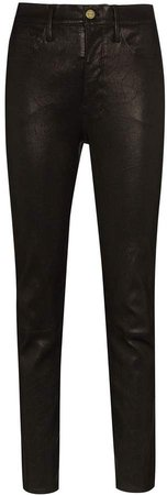 Mid-Rise Slim-Fit Trousers