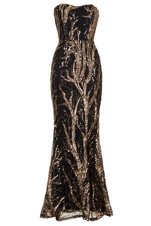 rose gold black dress - Google Search