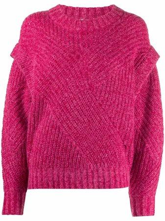 IRO layered-knit jumper - FARFETCH