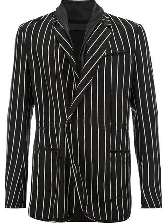 Haider Ackermann Pinstripe Blazer 1833009A453010 Black | Farfetch