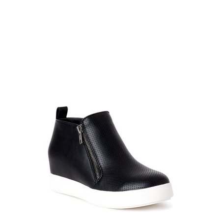 Time and Tru - Time and Tru Sneaker Wedge Bootie (Women's) (Wide Width Available) - Walmart.com - Walmart.com