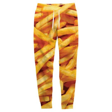 French Fries Joggers - All Over Print Apparel - Getonfleek