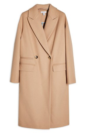 Topshop Classic Double Breasted Coat | Nordstrom