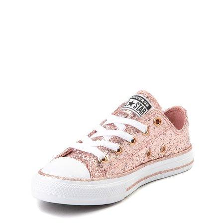 Converse Chuck Taylor All Star Lo Glitter Sneaker - Little Kid - Rose Gold | Journeys