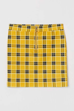 Short Skirt - Yellow