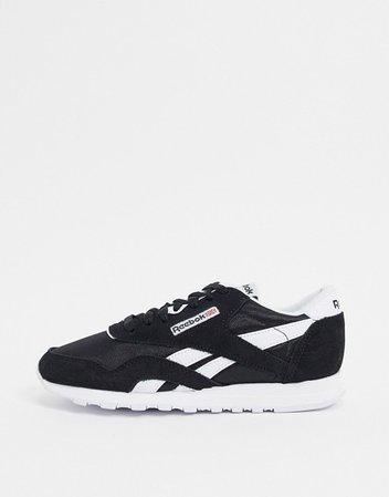 Reebok Classic Nylon sneakers in white and black | ASOS
