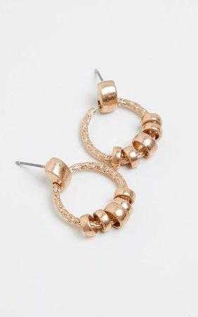 Gold Mini Door Knocker Hoop Earrings | PrettyLittleThing