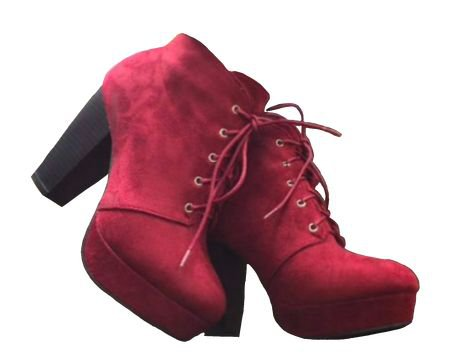 red + black heeled boots