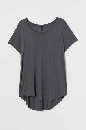 H&M+ Jersey Top - Gray