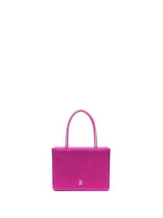Amina Muaddi Satin crystal-embellished Mini Bag - Farfetch