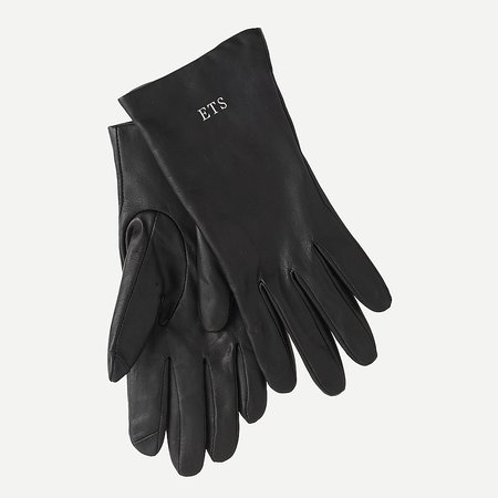 J.Crew: Cashmere-lined Leather Tech Gloves For Women