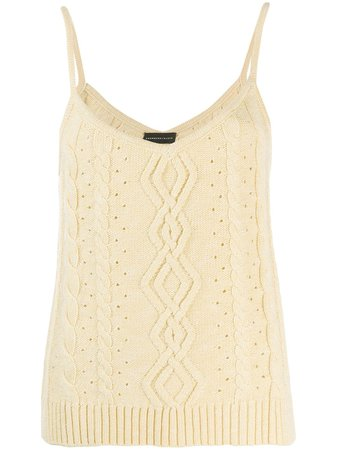 Cashmere In Love Cable Knit Tank Top FREYA Yellow | Farfetch