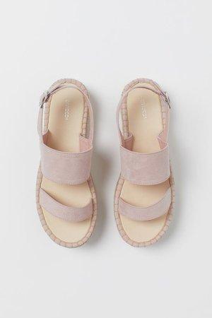 Platform Espadrilles - Powder pink - Ladies | H&M US
