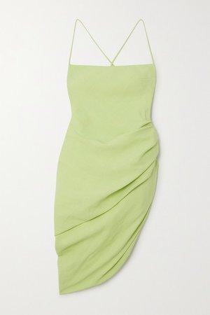 Jacquemus | La Robe Saudade gathered canvas mini dress | NET-A-PORTER.COM