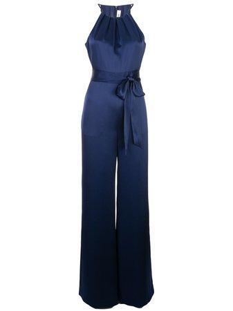 Shop blue DVF Diane von Furstenberg sleeveless flared jumpsuit with Express Delivery - Farfetch