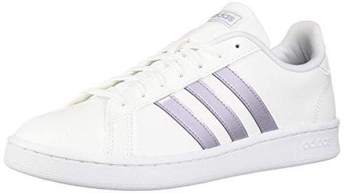 Amazon.com | adidas Women's Grand Court, Black/White, 8 M US | Fashion Sneakers
