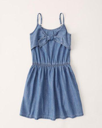 girls tie-front dress | girls dresses & rompers | Abercrombie.com