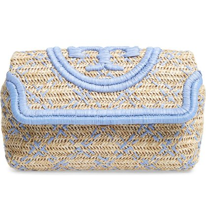 Tory Burch Small Fleming Straw Clutch   Nordstrom