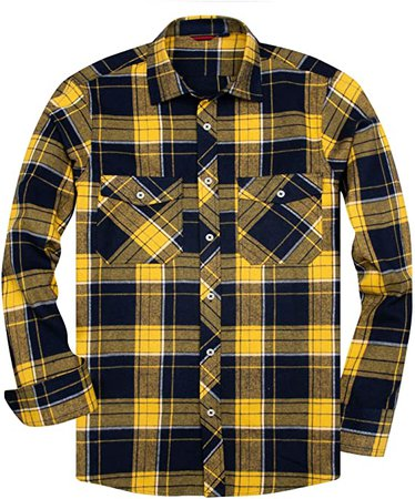 Amazon.com: Alimens & Gentle Men's Button Down Regular Fit Long Sleeve Plaid Flannel Casual Shirts - Color: Purple, Size: Medium: Clothing