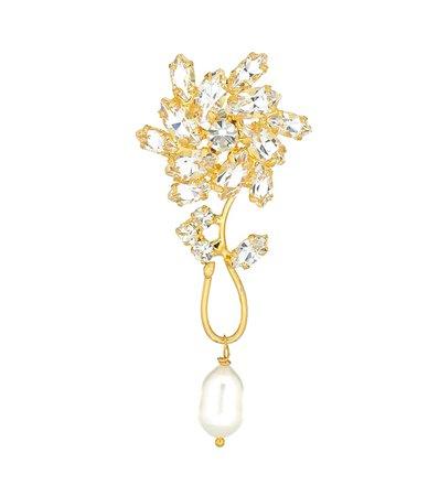 Magda Butrym - Borage single crystal-embellished earring with pearl | Mytheresa