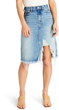 Atica Johanna Ripped Denim Skirt