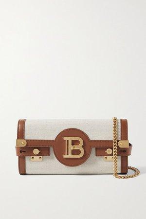 B-buzz 23 Leather-trimmed Canvas Shoulder Bag - Brown
