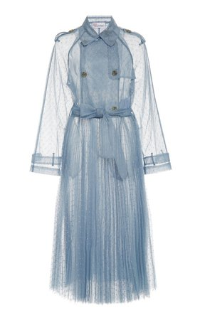 Point D'Esprit Tulle Trench Coat by Red Valentino   Moda Operandi