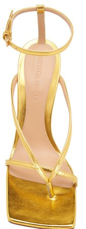 Bottega Veneta Metallic Strappy Sandals