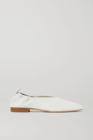 Leather Ballet Flats - Ivory