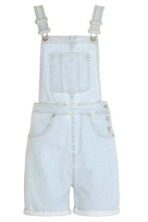 Denim Dungaree Short | boohoo