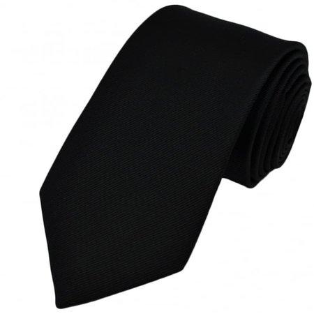 Plain Black Silk Tie from Ties Planet UK
