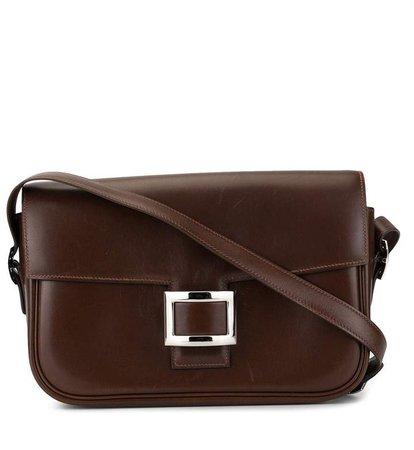 Pre-Owned square plaque shoulder bag