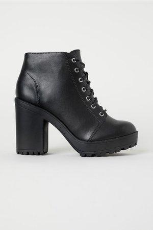 Platform ankle boots ( 8 cm)
