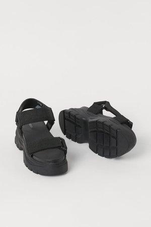Chunky-soled sandals - Black - Ladies | H&M