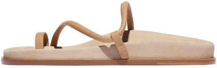 Bari Sandal in Tan Suede