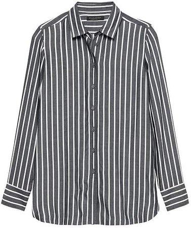 Parker Tunic-Fit Wide Stripe Shirt