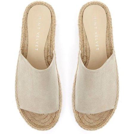 Mint Velvet Beth Espadrille Slider Sandals