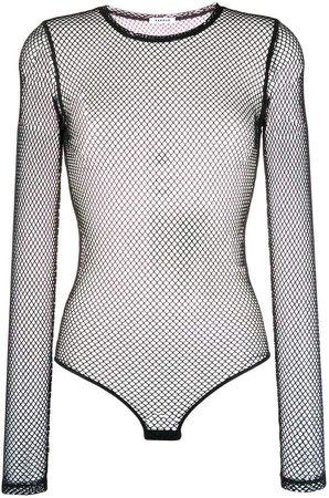 long-sleeved net body